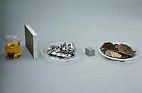 COMMON TRANSITION METALS<br /> Metal Elements<br /> Left to right: selenium, titanium, vanadium, chromium, manganese