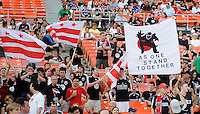 DC United fans want to stand together as one.    DC United tied Real Salt Lake 0-0 at  RFK Stadium, Saturday May 23, 2009.