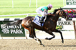 Close Hatches with Joel Rosario win the 57th running of the Grade I Mother Goose for fillies 3-year olds, going 1 1/16 mile, at Belmont Park.  Trainer William Mott. Owner Juddmonte Farms, Inc.