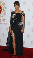 HOLLYWOOD, LOS ANGELES, CA, USA - JUNE 01: Actress Halle Berry wearing a Elie Saab Couture gown poses in the press room at the 12th Annual Huading Film Awards held at the Montalban Theatre on June 1, 2014 in Hollywood, Los Angeles, California, United States. (Photo by Xavier Collin/Celebrity Monitor)