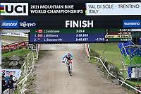 29th August 2021; Commezzadura, Trentino, Italy; 2021 Mountain Bike Cycling World Championships, Val di Sole; Downhill;  Downhill final, junior men, Jackson GOLDSTONE (CAN)
