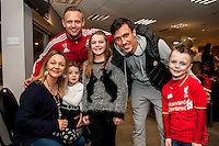 Tuesday  15 December 2015<br /> Pictured: Lee Trundle and Jack Cork<br /> Re: Kids SCFC Christmas Party at the Liberty Stadium, Swansea