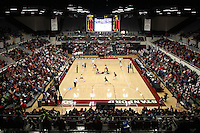 30 November 2007: Maples Pavilion during Stanford's 3-0 win over Santa Clara University in the first round of the NCAA Division 1 Women's Volleyball Championships in Maples Pavilion in Stanford, CA.