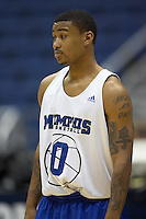 SAN ANTONIO, TX - MARCH 21, 2007: The University of Memphis Tigers prepare for the NCAA Men's Basketball South Regional during practice day at the Alamodome. (Photo by Jeff Huehn)