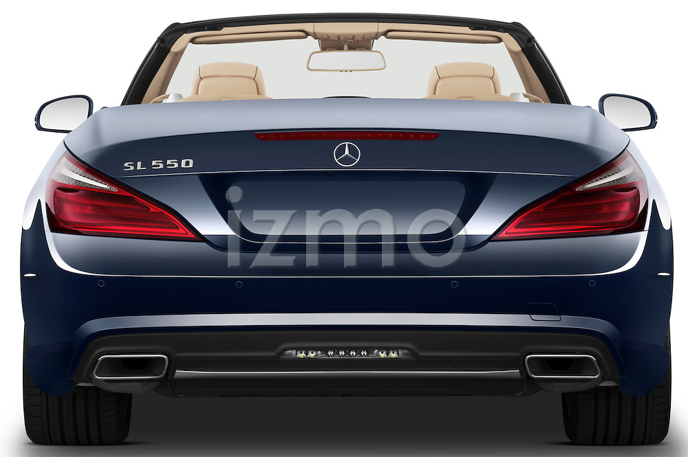 Straight rear view of a 2013 Mercedes SL Class