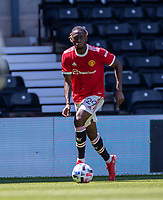 18th July 2021; Pride Park, Derby, East Midlands; Pre Season Friendly Football, Derby County versus Manchester United;  Aaron Wan-Bissaka of Manchester United
