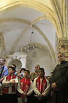 Israel, Jerusalem, the Holy Thursday ceremony at the Cenacle on Mount Zion