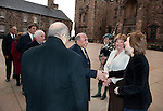 Fiona Hyslop, Cabient Secretary for Culture and External Affairs greets His Excellency Mr. Abdulla Al-Radhi (Embassy of the Republic of Yemen) on his arrival at Edinburgh Castle for a reception and dinner hosted by Alex Salmond First Minister of Scotland..Pic Kenny Smith, Kenny Smith Photography.6 Bluebell Grove, Kelty, Fife, KY4 0GX .Tel 07809 450119,