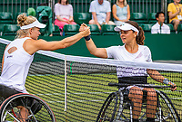 London, England, 11 July, 2019, Tennis,  Wimbledon, Ladies Wheelchair single: Diede de Groot (NED) defeats Marjolein Buis (NED) (R)<br /> Photo: Henk Koster/tennisimages.com