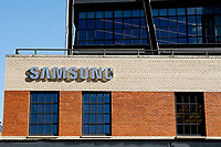 NEW YORK, NEW YORK - MARCH 04: View of the Samsung 837 store on March 04, 2021 in New York. Samsung Electronics Co Ltd is considering four sites en United States, for a new $17 billion chip plant. (Photo by Emaz/VIEWpress)