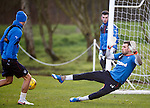 Cammy Bell makes a festive comeback for Rangers at training today