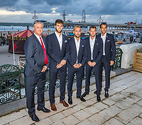 The Hague, The Netherlands, September 13, 2017,  Sportcampus , Davis Cup Netherlands - Chech Republic, Official Diner, Check Team in front of the beach<br /> Photo: Tennisimages/Henk Koster