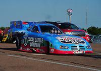 Apr. 29, 2011; Baytown, TX, USA: NHRA funny car driver Brian Thiel during qualifying for the Spring Nationals at Royal Purple Raceway. Mandatory Credit: Mark J. Rebilas-