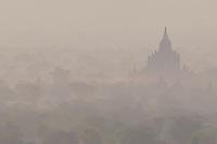 Sunrise at Shesandaw Temple, Bagan, Myanmar, Burma.