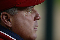Anaheim Angels Manager Mike Scioscia during a 2003 season MLB game at Angel Stadium in Anaheim, California. (Larry Goren/Four Seam Images)