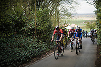 breakaway group up the Kortekeer<br /> <br /> 74th Dwars door Vlaanderen 2019 (1.UWT)<br /> One day race from Roeselare to Waregem (BEL/183km)<br /> <br /> ©kramon
