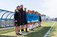 Bradenton, FL - Friday, June 08, 2018: USA bench during a U-17 Women's Championship match between the United States and Canada at IMG Academy.  USA defeated Canada 1-0 to take top spot in their group and advance to the semifinals.