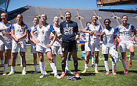 Chicago, IL - July 9, 2016: The USWNT defeated South Africa 1-0 during an international friendly at Soldier Field.