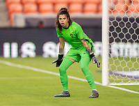 HOUSTON, TX - JUNE 13: Ines Pereira #1 of Portugal looks to the ball during a game between Nigeria and Portugal at BBVA Stadium on June 13, 2021 in Houston, Texas.