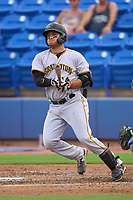 Bradenton Marauders Ernny Ordonez (14) bats during a game against the Dunedin Blue Jays on June 5, 2021 at TD Ballpark in Dunedin, Florida.  (Mike Janes/Four Seam Images)