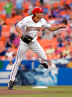 13 June 2006: Mike O'Connor, pitcher for the Washington Nationals, on the mound against the Colorado Rockies at RFK Stadium, in Washington, DC. The Rockies defeated the Nationals 9-2 in the second game of the four-game series...Mandatory Photo Credit: Ed Wolfstein Photo..