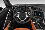 Car pictures of steering wheel view of a 2018 Chevrolet Corvette Stingray Convertible 2LT 2 Door Convertible