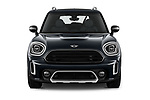 Car photography straight front view of a 2021 MINI Countryman Cooper-Northwood 5 Door SUV Front View