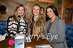 Kelly Ann Roantree, Vivian O'Shea and Maura O'Connor enjoying the evening in the Mall Tavern on Saturday.