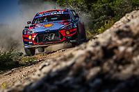 10th October 2020, Alghero, Sardinia, Italy; WRC Rally of Sardinia;   Sordo