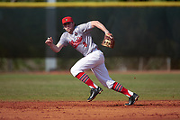 Illinois State Redbirds shortstop Owen Miller (8) during a game against the Ohio State Buckeyes on March 5, 2016 at North Charlotte Regional Park in Port Charlotte, Florida.  Illinois State defeated Ohio State 5-4.  (Mike Janes/Four Seam Images)