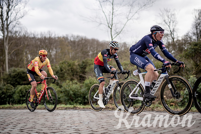 eventual winner Jasper Philipsen (BEL/Alpecin-Fenix) getting some energy in during the local laps around Schoten<br /> <br /> 109th Scheldeprijs 2021 (ME/1.Pro)<br /> 1 day race from Terneuzen (NED) to Schoten (BEL): 194km<br /> <br /> ©kramon