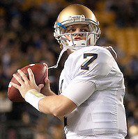 Notre Dame quarterback Jimmy Clausen. The Pittsburgh Panthers defeat the Notre Dame Irish 27-22 at Heinz Field, Pittsburgh Pennsylvania on November 14, 2009..