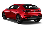 Car pictures of rear three quarter view of a 2019 Mazda Mazda3 Skycruise 5 Door Hatchback angular rear