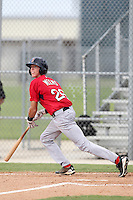 Boston Red Sox catcher Jordan Weems #26 during an Instructional League game against the Minnesota Twins at Red Sox Minor League Training Complex in Fort Myers, Florida;  October 3, 2011.  (Mike Janes/Four Seam Images)