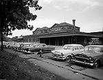 Pittsburgh PA - View of PA Railroad's East Liberty Train Station and parking lot.