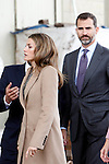 Prince Felipe of Spain and Princess Letizia of Spain visit Alcaniz village on November 7, 2012 in Alcaniz, Teruel, Spain.(ALTERPHOTOS/Harry S. Stamper)