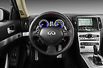 Steering wheel view of a 2011 Infiniti G37 IPL Coupe