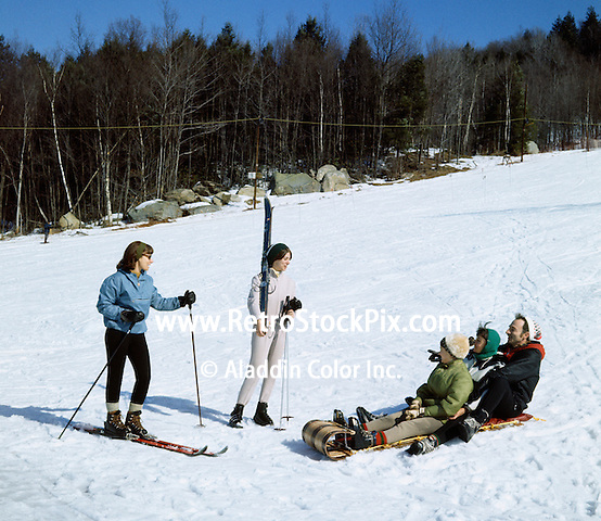 Skiing & toboggan in the Catskill Mountains - 1969