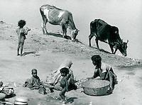 Leben am Fluss, Indien 1974