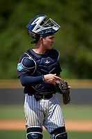 New York Yankees catcher Donny Sands (9) during a Florida Instructional League game against the Pittsburgh Pirates on September 25, 2018 at Yankee Complex in Tampa, Florida.  (Mike Janes/Four Seam Images)