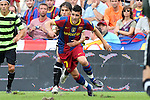 Football -Barcelona's David Villa during Barcelona vs Hercules match at Camp Nou stadium in Barcelona, September 11, 2010.