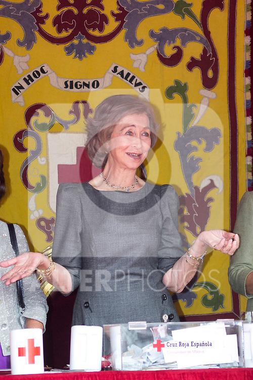 10.10.2012. Queen Sofia of Spain attends ´Cruz Roja´ (Red Cross) Fundraising Day in the Congress of Deputies, Madrid, Spain. In the image Queen Sofia (Alterphotos/Marta Gonzalez)