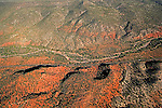 Arizona Mountaions between Scottsdale and Sedona helicopter aerial