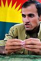 Iraq 2009.Aras, one of the leaders of PJAK in Candil   Irak 2009. Aras, un des chefs de PJAK a Candil