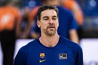 11th April 2021; Palau Blaugrana, Barcelona, Catalonia, Spain; Liga ACB Basketball, Barcelona versus Real Madrid; 16 Pau Gasol of Barcelona the Liga Endesa match between Barcelona and Real Madrid at Palau Blaugrana