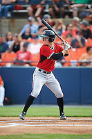 Carolina Mudcats center fielder Stephen Gaylor (12) at bat during a game against the Frederick Keys on June 4, 2016 at Nymeo Field at Harry Grove Stadium in Frederick, Maryland.  Frederick defeated Carolina 5-4 in eleven innings.  (Mike Janes/Four Seam Images)