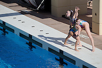 STANFORD, CA - February  25, 2012: Stanford Women's Synchronized Swimming on 25th, 2012.
