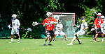 BERLIN, GERMANY - JUNE 21: Match of Global Players (white) vs Blax (red) during the Berlin Open Lacrosse Tournament 2013 at Stadion Lichterfelde on June 21, 2013 in Berlin, Germany. Final score 11-1. (Photo by Dirk Markgraf/www.265-images.com)