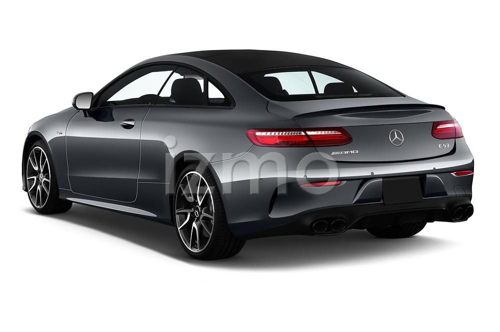 Car pictures of rear three quarter view of 2019 Mercedes Benz E-Class AMG-E53 2 Door Coupe Angular Rear
