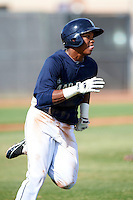 Seattle Mariners minor league infielder Martin Peguero #3 during an instructional league game against the San Diego Padres at the Peoria Sports Complex on October 6, 2012 in Peoria, Arizona.  (Mike Janes/Four Seam Images)
